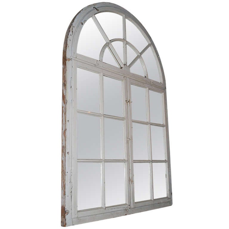 20th Century Wooden Window Frame As Mirror At 1stdibs