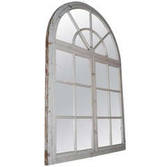 20th Century Wooden Window Frame as Mirror