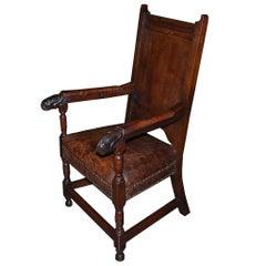 18th Century Oakwood Armchair/Ladychair