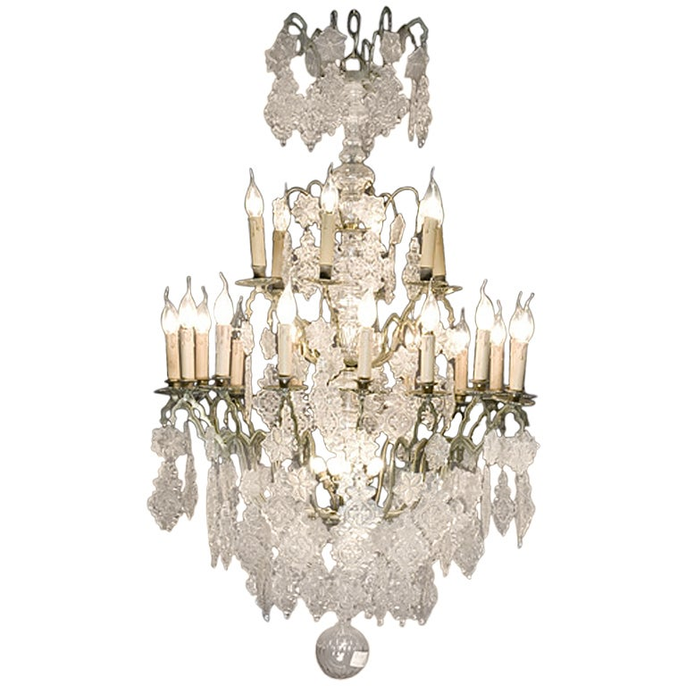 18th Century Crystal Glass Chandelier