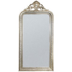 19th Century Silver French Mirror