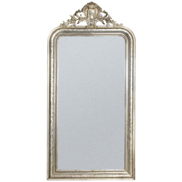 19th century silver french mirror for sale at 1stdibs for French mirror