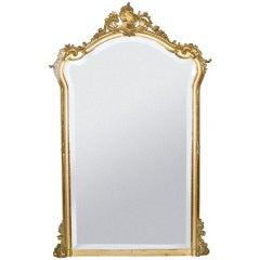 19th c. Rococo Louis Quinze gold gilded mirror