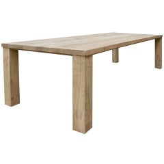 Contemporary Oak Wood Table