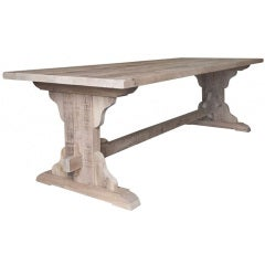 New Rustic Oakwood Table, Handcrafted