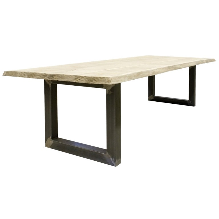 Modern tree trunk table at 1stdibs for Tree trunk dining table