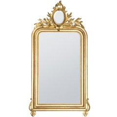 19th Century Gold Gilded Baroque French Mirror