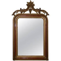 19th Century Gold Gilded Louis Philippe Mirror