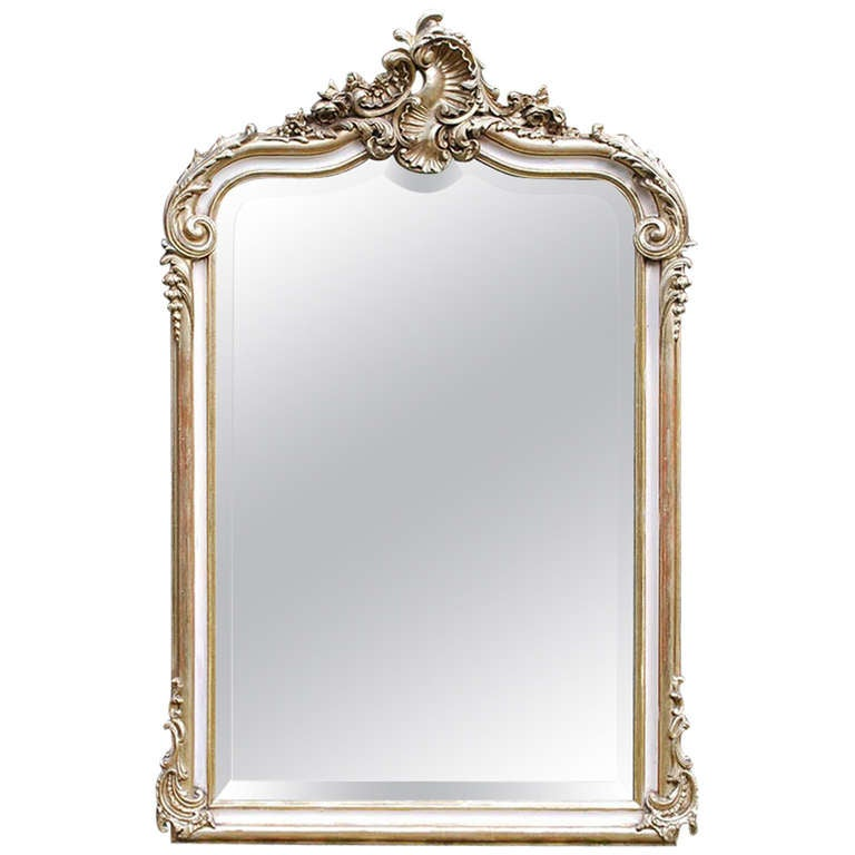19th century french rococo mirror for sale at 1stdibs