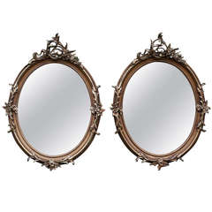 Set of 2 19th c. French Rococo Mirrors