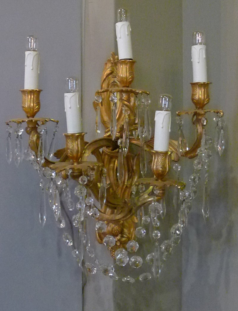 19th Century Pair of Wall Sconces
