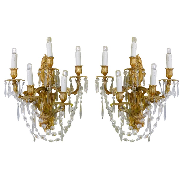 19th Century Pair of Wall Sconces For Sale