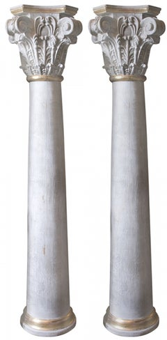 19th Century Pair of Pillars