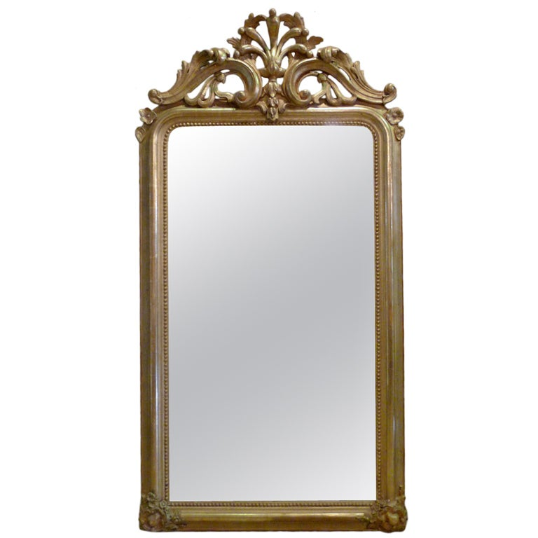 19th c gold gilded baroque mirror at 1stdibs