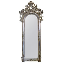 19th Century Silver Gilded Baroque Mirror