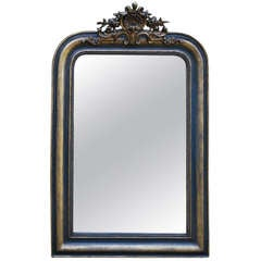 19th Century Green and Gold Gilded Mirror