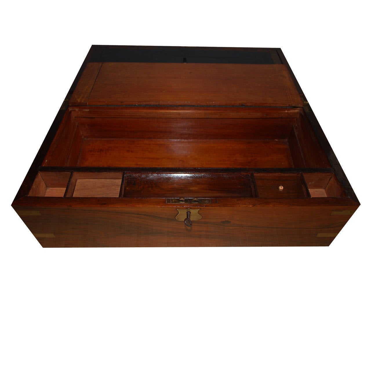 19th Century Mahogany Writing Box In Good Condition For Sale In Casteren, NL