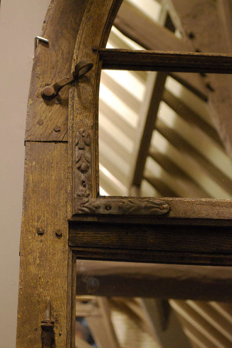 Pair Of Two Wooden Window Frames As Mirrors At 1stdibs