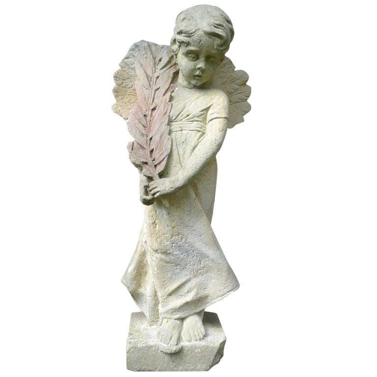 19th Century Sandstone Angel