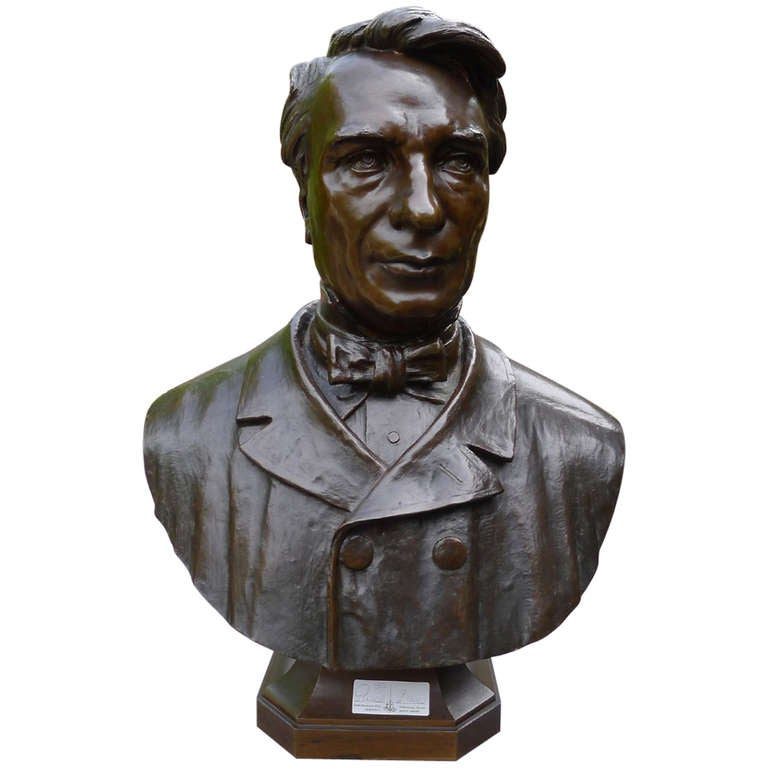 19th Century Brass Bust of Rispal