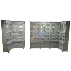 Large Three-Piece Library Cabinet
