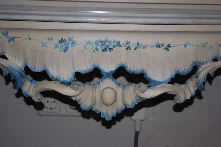 19th Century Venetian Console Table with Mirror For Sale 3