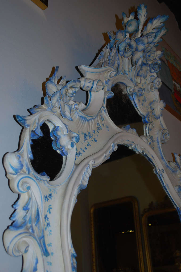 19th Century Venetian Console Table with Mirror In Good Condition For Sale In Casteren, NL