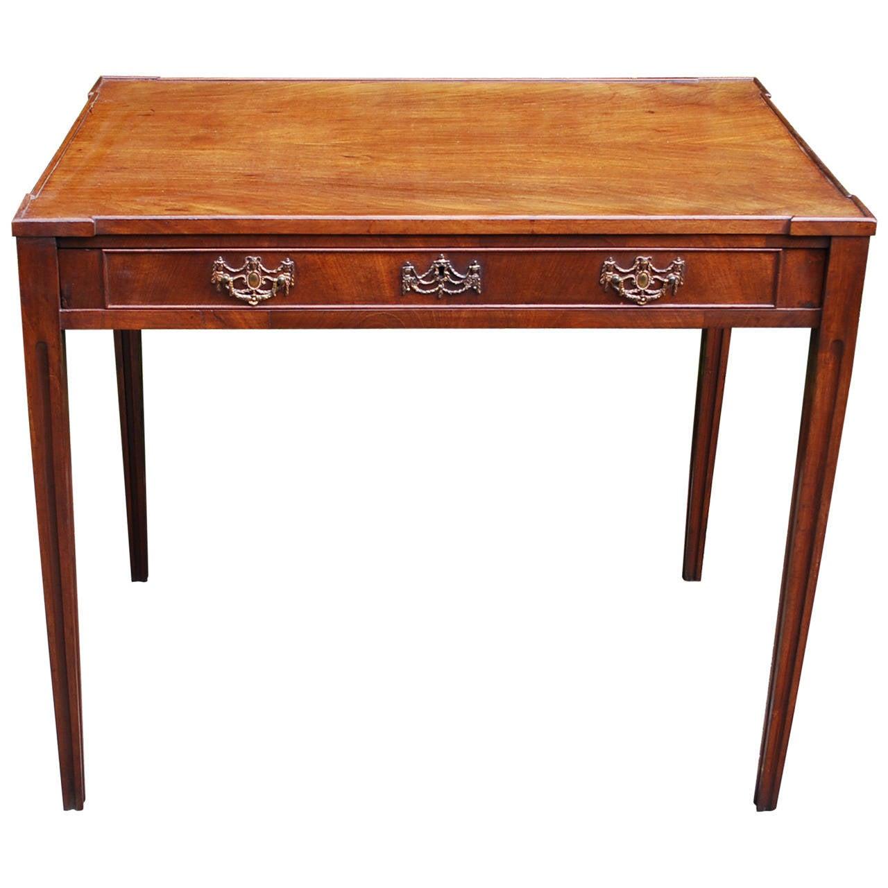 18th Century Louis XVI Mahogany Side Table