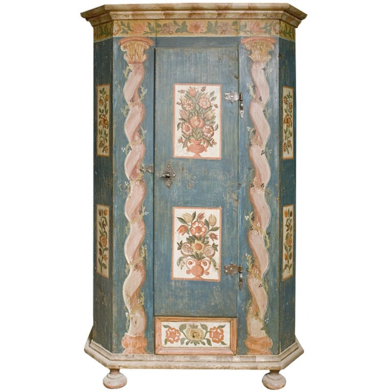 19th Century Hand-Painted Cabinet