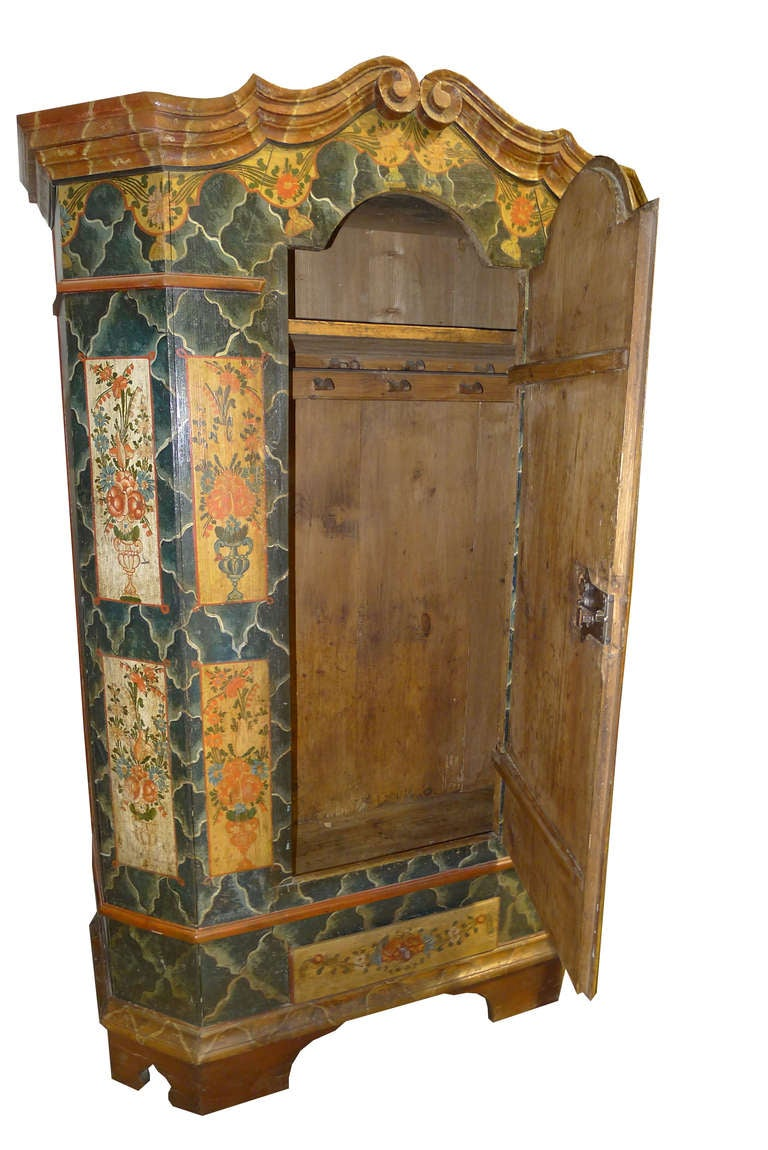 Czech 19th Century Bohemian Cabinet For Sale