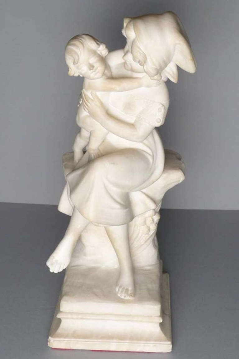 20th Century Marble Statue By A Cipriani For Sale At 1stdibs