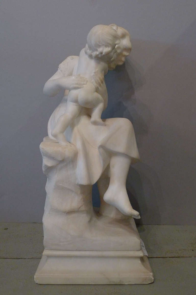 Italian 20th Century Marble Statue by A. Cipriani For Sale