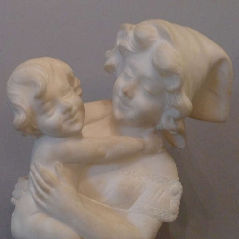 20th Century Marble Statue by A. Cipriani For Sale 1