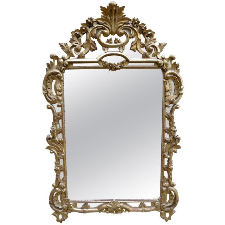 19th c italian baroque mirror at 1stdibs for Italian baroque mirror