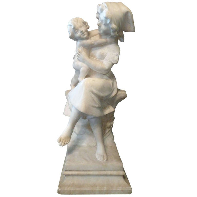 20th Century Marble Statue by A. Cipriani For Sale