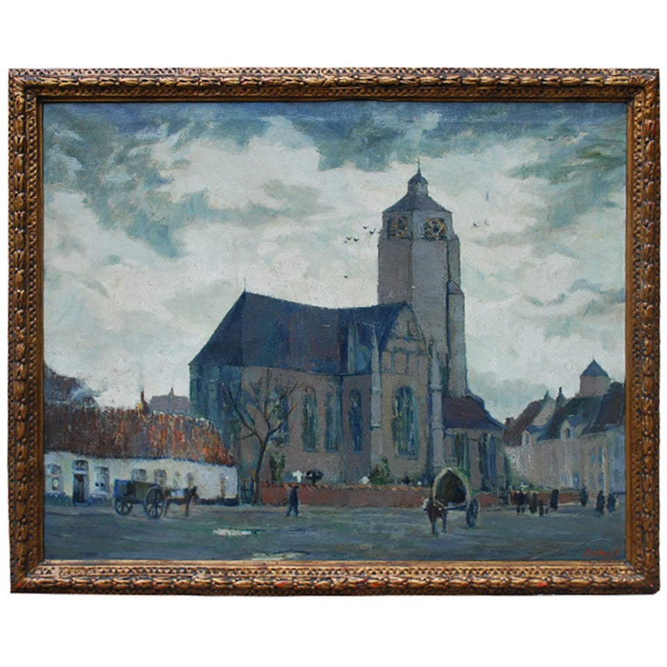 20th Century Painting by Joseph Tilleux