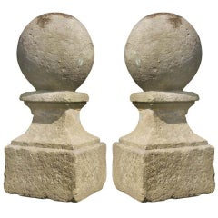 18th Century Pair of Baluster Ornaments