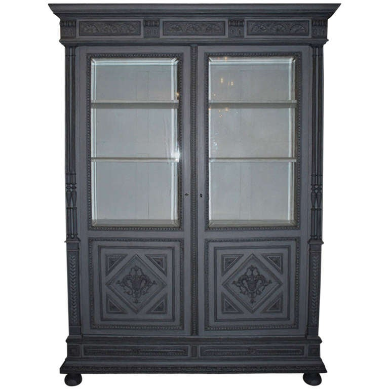 19th century oakwood cabinet vitrine for sale at 1stdibs for 19th century kitchen cabinets