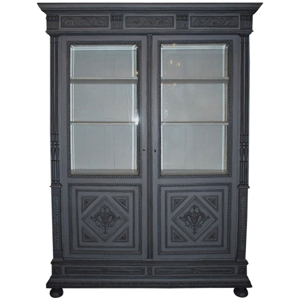 19th Century Oakwood Cabinet Vitrine