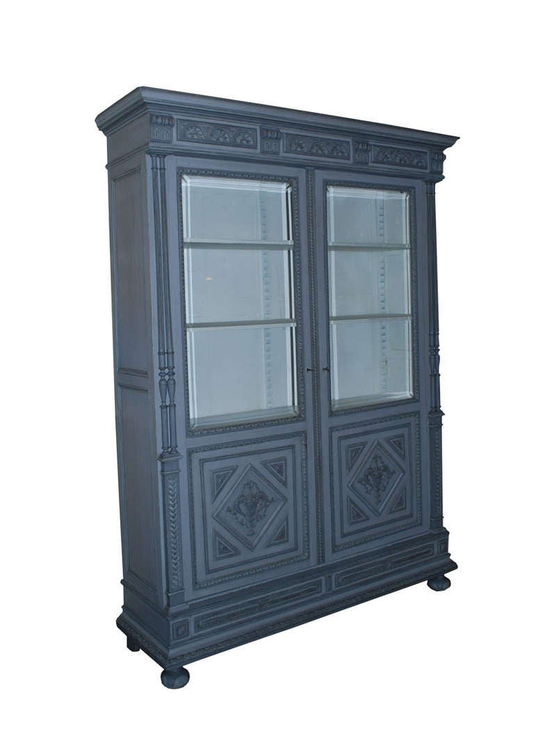 19th century oakwood cabinet vitrine for sale at 1stdibs for Sideboard vitrine