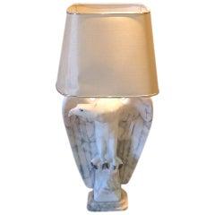 20th Century Art Deco Eagle Marble Lamp