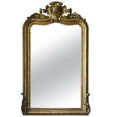 19th Century Gold Gilded Baroque Mirror
