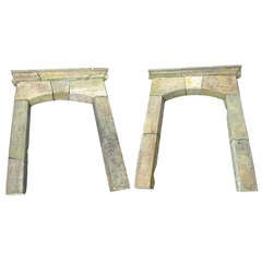 18th Century Very Large Pair of Sandstone Portal Frames