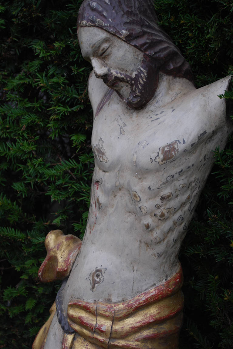 19th Century Wood Carved Statue of Jesus Christ 6
