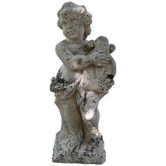 20th Century Sculpted Sandstone Putti
