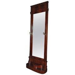 19th Century Large Mahogany Mirror