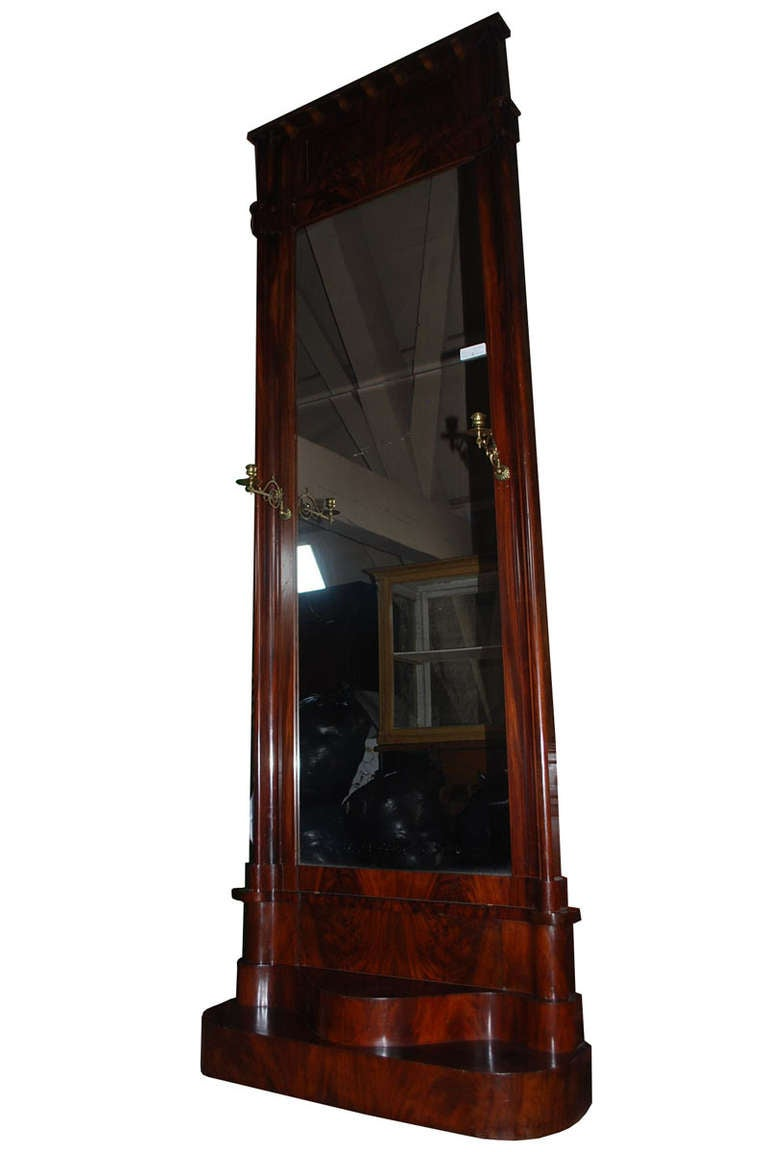 19th century large mahogany mirror for sale at 1stdibs for Big mirrors for sale