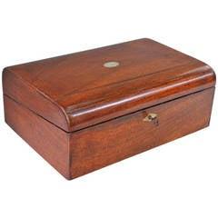 19th Century Mahogany Writing Box