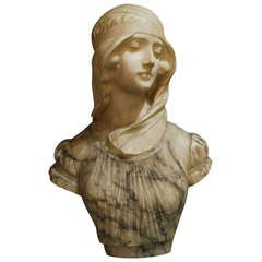 19th Century Bust of a Maiden by G. Pugi