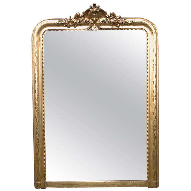 19th century gold gilded baroque mirror at 1stdibs for Gilded baroque mirror